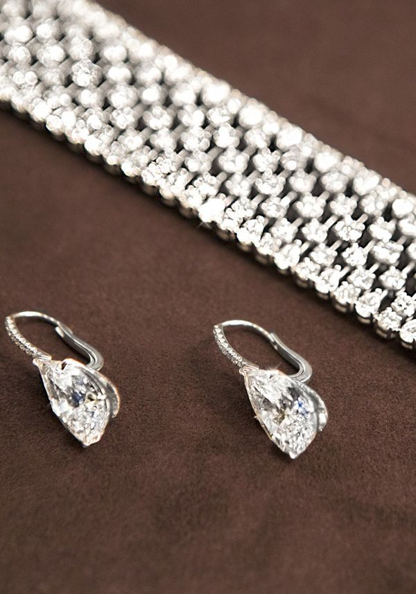 ...classic white diamonds from Leviev were the stars.