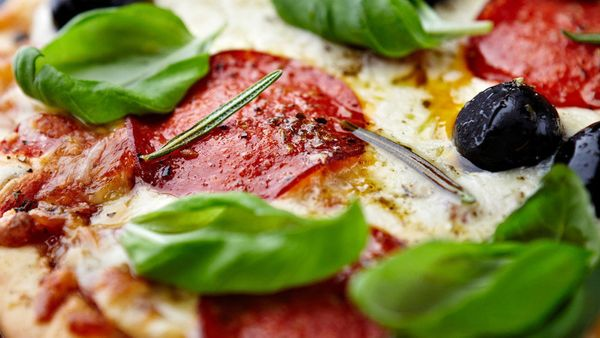 Just as with cooked meats, pizza is usually good for three or four days in the refrigerator. (Wrap it tightly to keep it tast