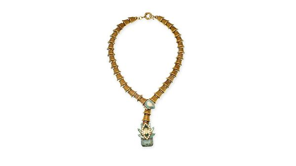 "Available at: Elizabeth Cole, $270, <a href=""http://www.elizabethcolejewelry.com/collections/necklaces/products/ramsey-neckla"