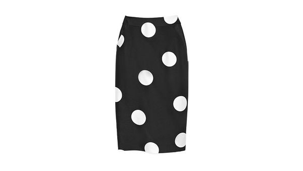 "Available at: $345, <a href=""http://us.lkbennett.com/Clothing/Skirts/Luchia-Long-Pencil-Skirt-Skirts-Material%3A-Cotton-Mix-U"