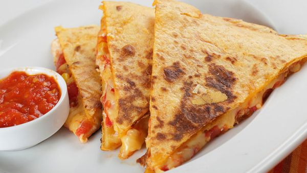 We're all about quesadillas, those crispy, oozy tortilla sandwiches that can be made with practically any filling on the plan
