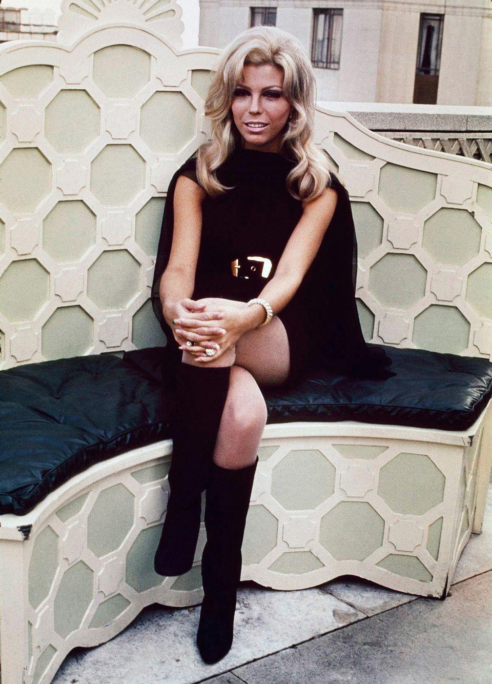 Nancy Sinatra shot wearing black leather boots in 1967. (AP Photo)
