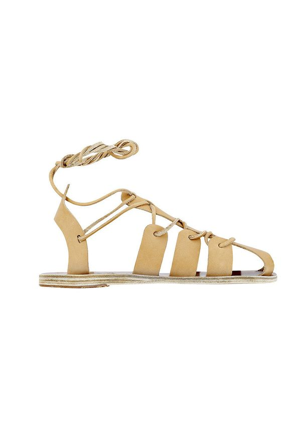 The gladiator sandal has been around for a few seasons now, but the latest version has thinner straps than its chunkier prede