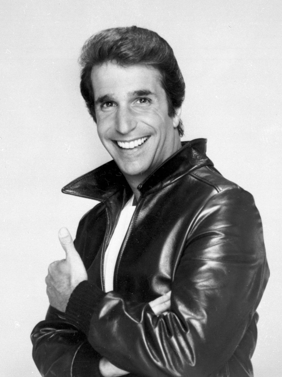 "This file photo from 1984 shows Henry Winkler as ""The Fonz."""