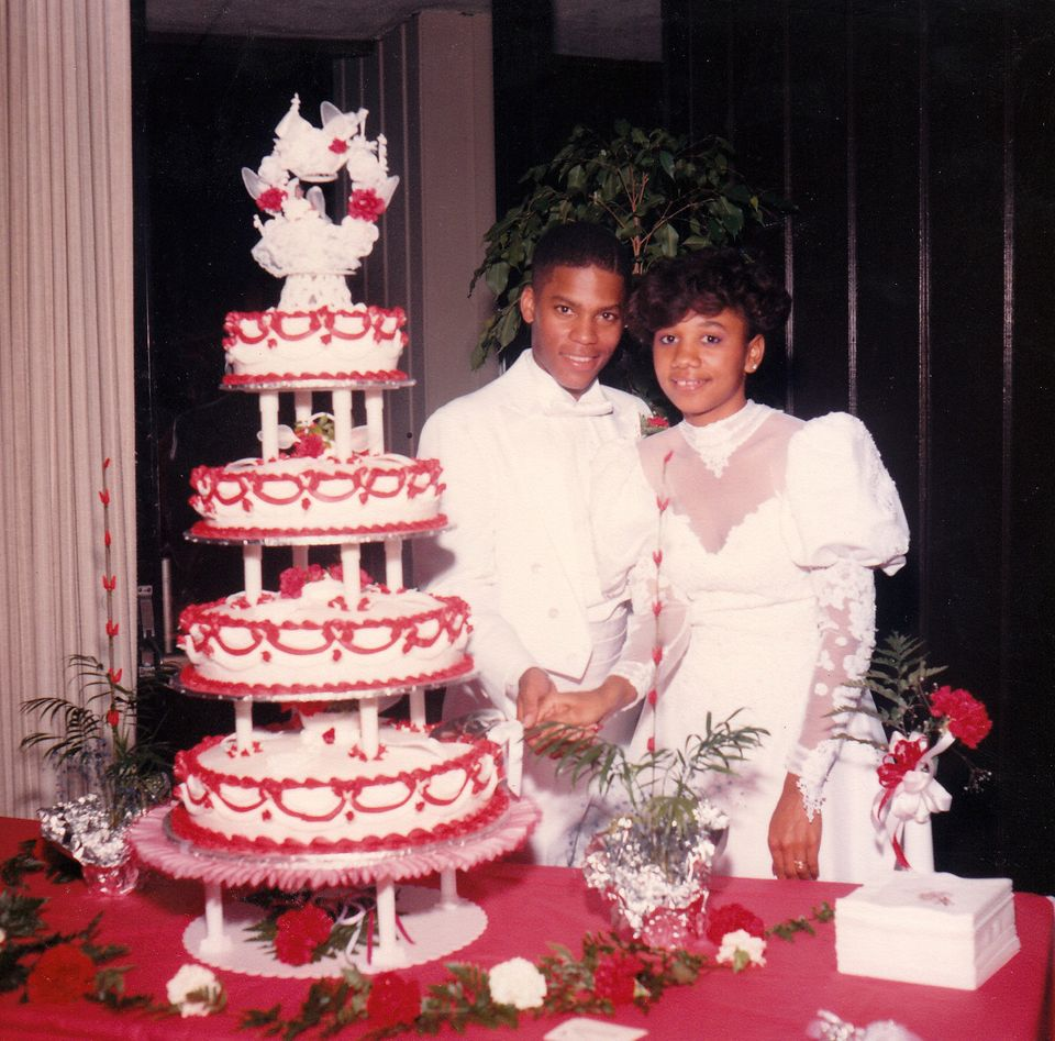 DL Hughley marries his wife, LaDonna, in 1986