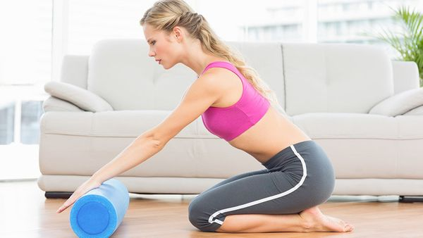 """Foam-rolling my IT bands is a must after every run. I've had problems with the band on my right side, so I really focus on t"