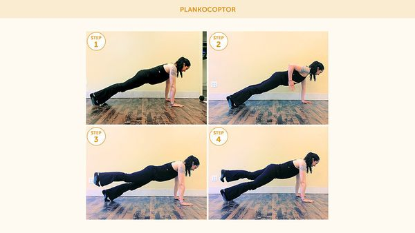 <strong>The Steps </strong> <br><br> 1. Get in plank position.  <br>2. Row back with your right arm, bending your elbow and l