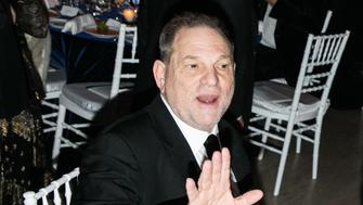 Producer Harvey Weinstein, rapper Jay Z, actor Harvey Keitel, and actor Robert De Niro attend the amFAR New York Gala at Cipriani Wall Street in New York, NY on February 10, 2016.