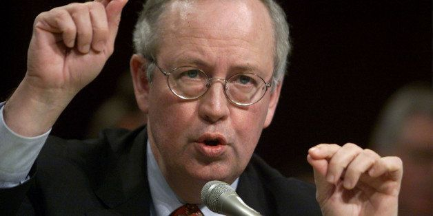 Independent Counsel Kenneth Starr testifies before the Senate Government Affairs Committee April 14. Starr said that he belie