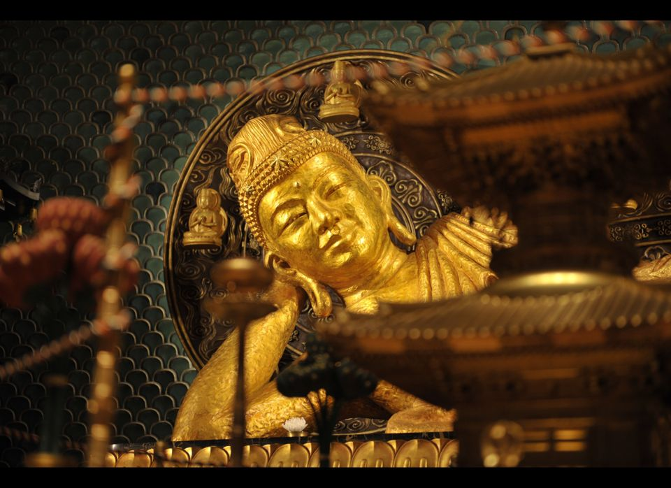 "The Great Nirvana Image or ""Reclining Buddha"" is the central and guiding icon of Shinnyo-en, the lay Buddhist practice develo"