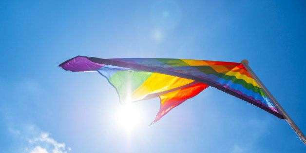 Gay Pride Parade, Flag, Multi Coloured, Celebration, Close-Up, Colour Image, Cultures, Day, Dublin - Republic of Ireland, Ide