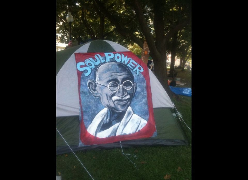 A tent in the Occupy DC camp.
