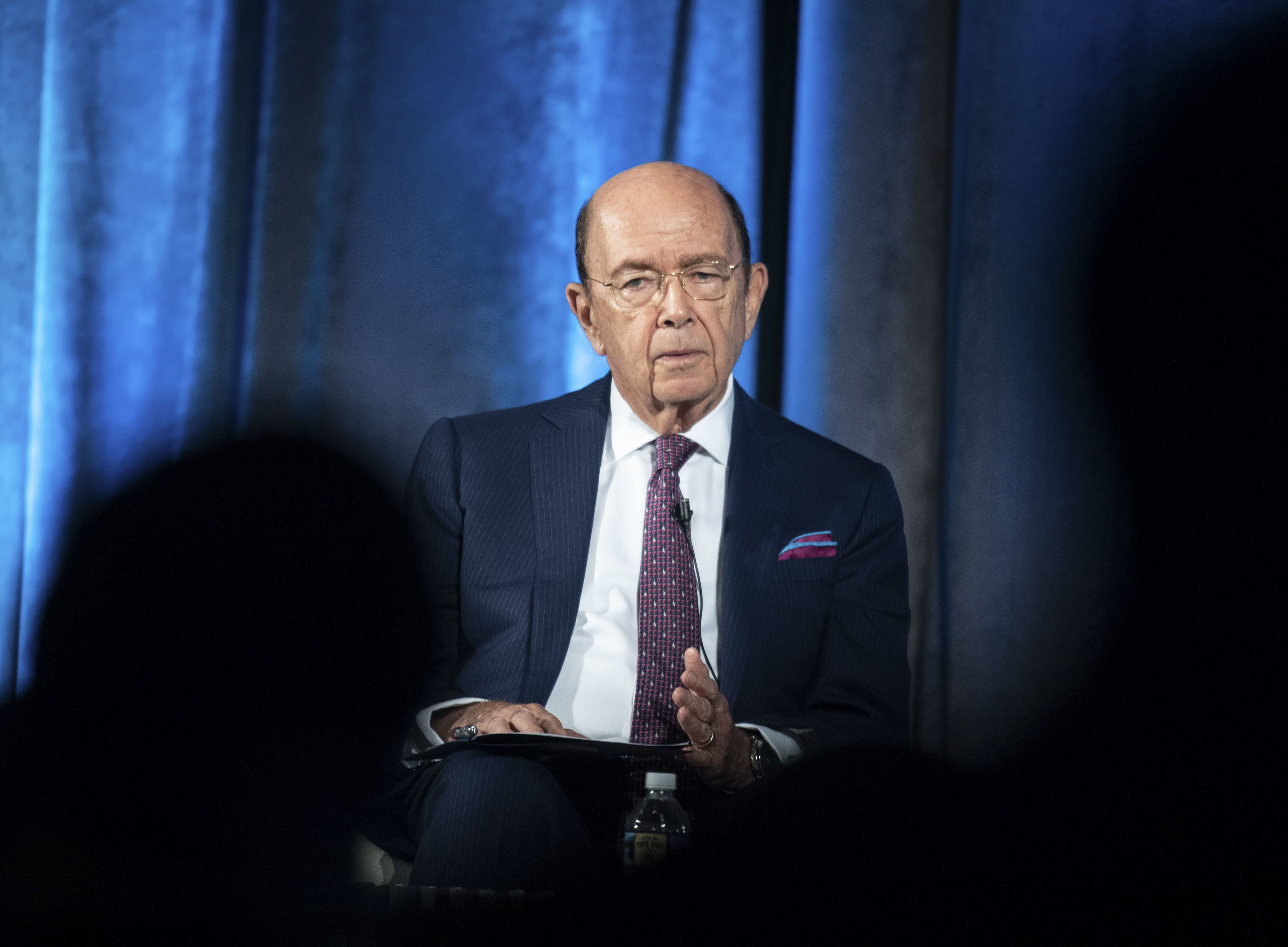 US Commerce Secretary Wilbur Ross addresses the Indo-Pacific Business Forum at the US Chamber of Commerce in Washington, DC, on July 30, 2018. (Photo by NICHOLAS KAMM / AFP)        (Photo credit should read NICHOLAS KAMM/AFP/Getty Images)