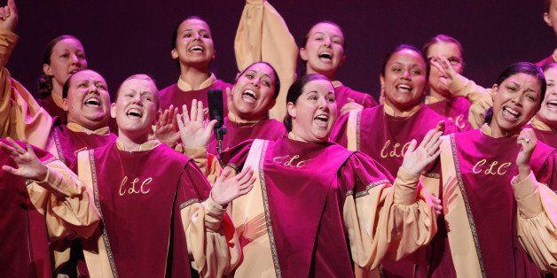 OAKLAND, CA - OCTOBER 04:  Christian Life Center Mass Choir, Winner Best Large Choir, performs onstage at Verizon's How Sweet