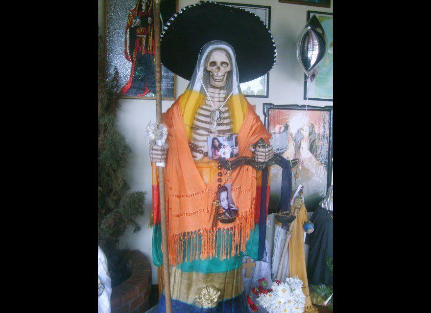 Death a la Mexicana, Santa Muerte chapel, Santa Ana Chapitiro, Michoacan.