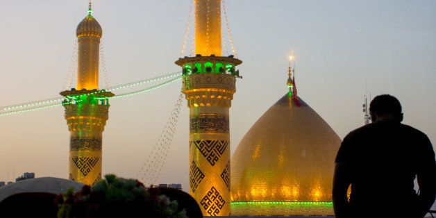It is the shrine of great taste gilded dome and minarets, One of Shiite imams who is the brother of Imam Hussein bin Ali bin