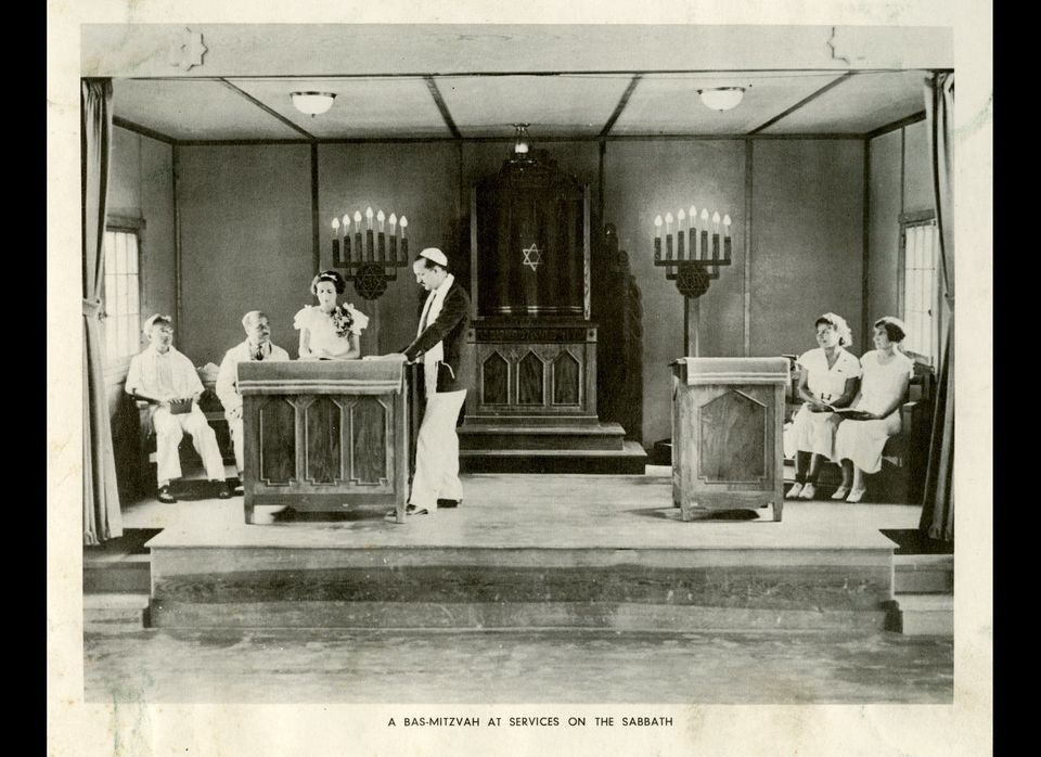 Camp Cejwin bat mitzvah, Port Jervis, N.Y., 1935  In the decades following the first bat mitzvah in 1922, some summer camps