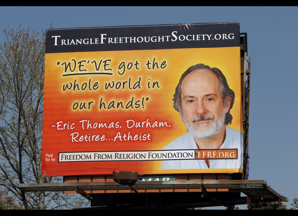 Atheist billboard on Capital Blvd. in Raleigh, North Carolina, can be seen March 29, 2011. (Chris Seward, Raleigh News & Obse