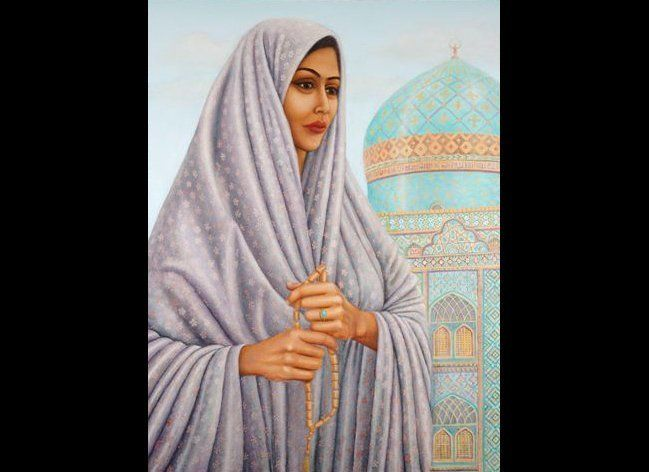 Tahirih (ca. 1817-1852), eminent Iranian poet-scholar; one of the original 19 followers of the early Baha'i movement. As she