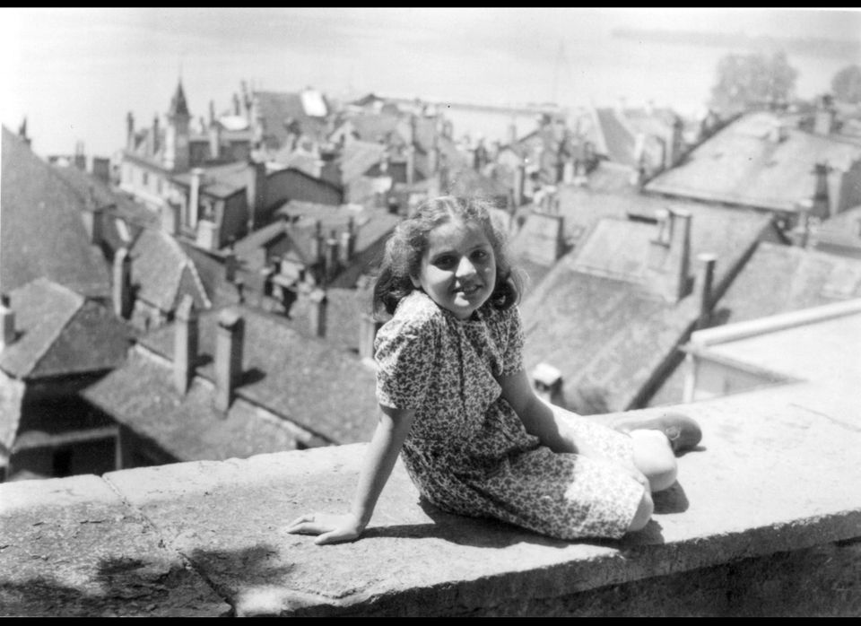Madeleine Albright at age 10 in Switzerland.