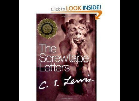 "By C.S. Lewis   Via Amazon.com <a href=""http://www.amazon.com/Screwtape-Letters-Proposes-Toast/dp/0060652896/ref=sr_1_3?s=b"