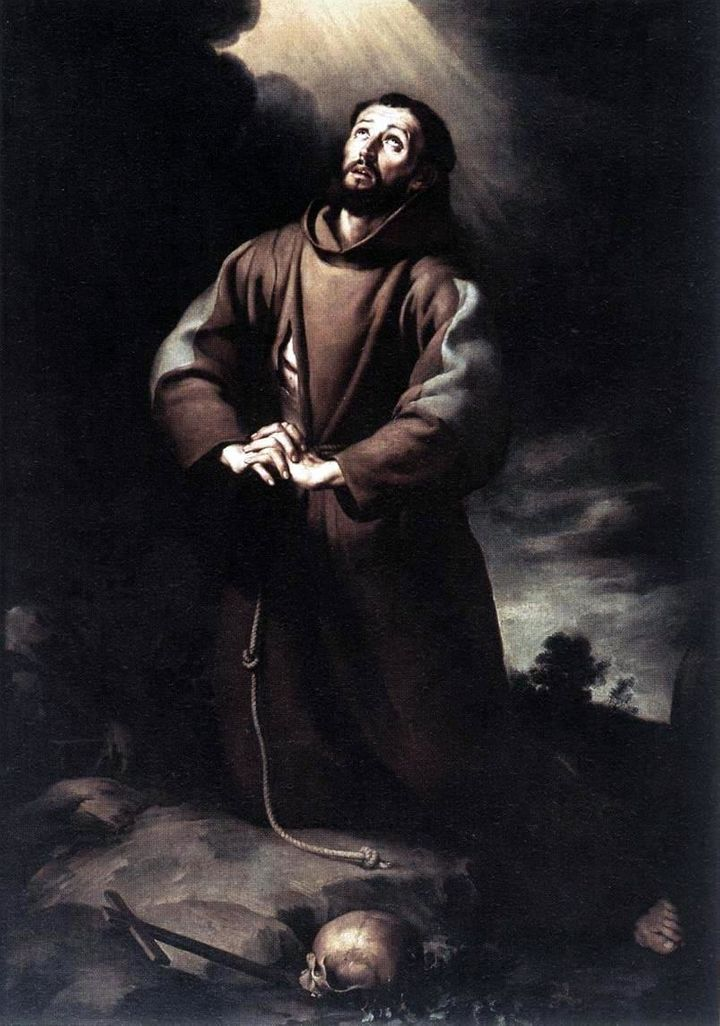 Description Bartolomé Esteban Murillo - St Francis of Assisi at Prayer (Oil on canvas, 182 × 129 cm) | Source | Date 1645-50