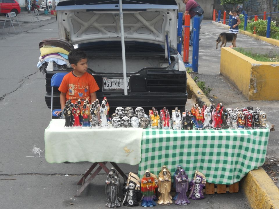 Death for Sale, near Dona Queta's famous shrine in Tepito, Mexico City