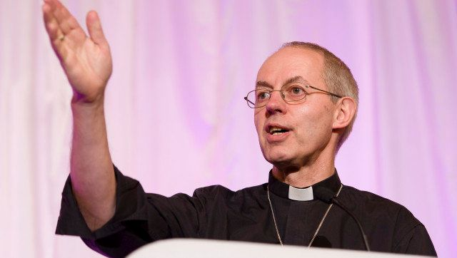 The new Archbishop of Canterbury, Justin Welby, addresses a press conference in London, on November 9, 2012. Former oil execu