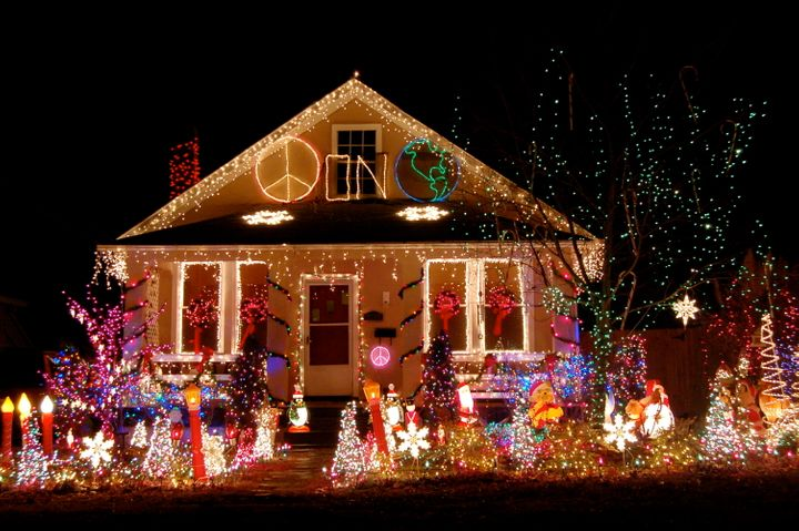 tacky christmas lights displays photos videos