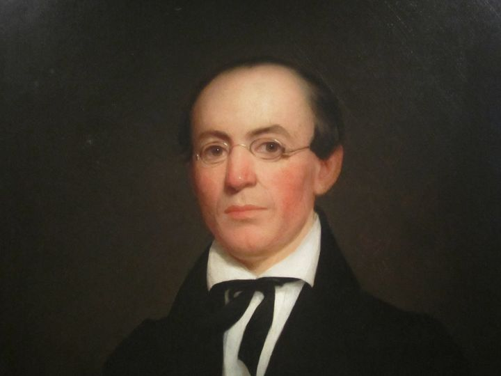 Description 1 I took photo of William Lloyd Garrison at National Portrait Gallery with Canon camera.  Public domain.     Sour
