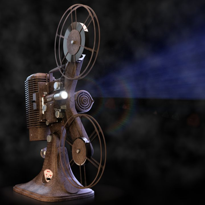 vintage film projector with...