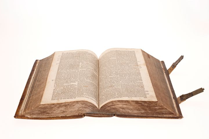 Holy bible open pages from 1768