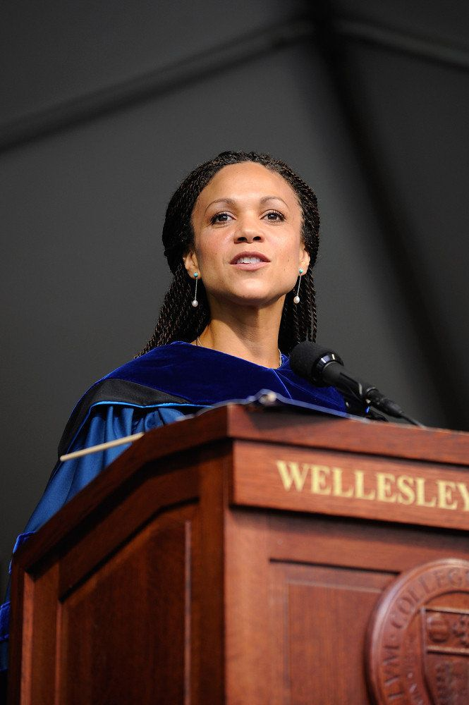 BOSTON, MA - MAY 25:  Author, MSNBC television host and Tulane Professor Melissa Harris Perry addresses the 2012 graduating c