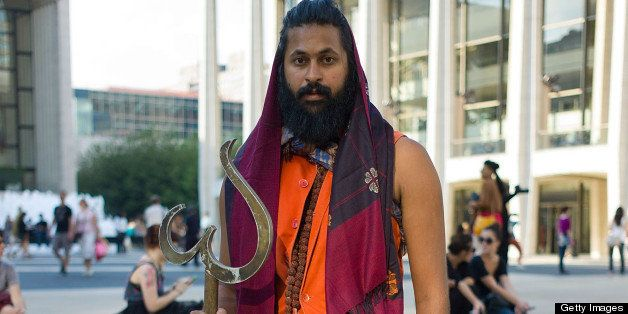 NEW YORK, NY - SEPTEMBER 12:  Director Vikram Gandhi as Kumare is seen on the streets of Manhattan during Spring 2012 Fashion
