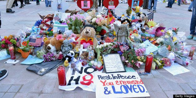 BOSTON, MA - APRIL 26:  A general view of the memorial to victims of the April 15 Boston Marathon Bombing Sean Collier, Kryst