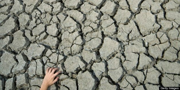 Cracked land caused by drought