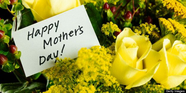 Mother's Day note on boquet