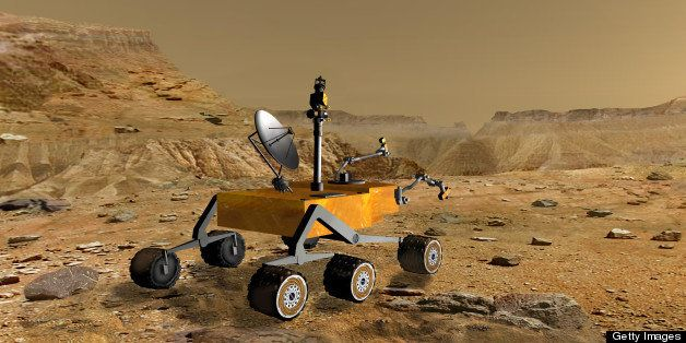 Artist's conception of NASA's Mars Science Laboratory Rover, currently under development. The new rover will have a greater r
