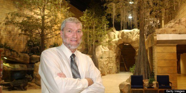 PETERSBURG, KY - AUGUST 3:  Ken Ham, president of Answers in Genesis, poses in the lobby of the Creation Museum August 3, 200