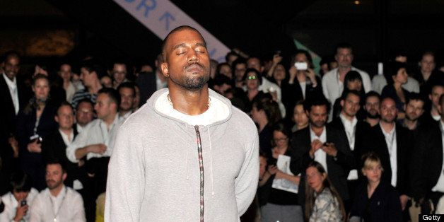 BASEL, SWITZERLAND - JUNE 12:  Kanye West shares with the Design Miami/ Basel audience parts of its unreleased new album Yeez