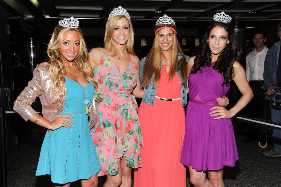 "The cast of Bravo's ""Princesses: Long Island"", from left, Amanda Bertoncini, Casey Cohen, Chanel ""Coco"" Omari and Joey Lauren"