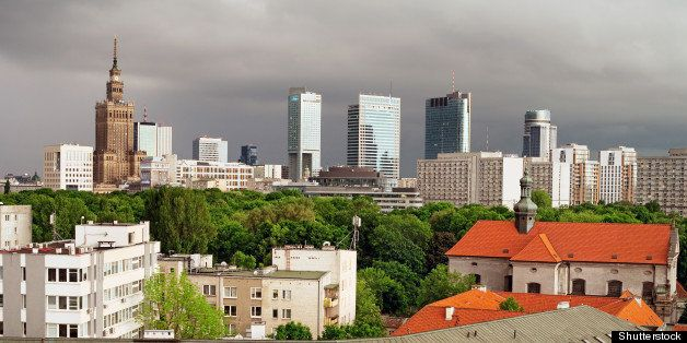 city of warsaw downtown  polish ...