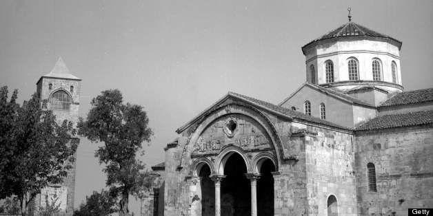 TURKEY - CIRCA 1965:  Trabzon (former Trebizonde, Turkey). The Saint - Sophie byzantine church Byzantine  (XIIIeme century).