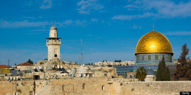 The Dome of the Rock is an Islamic shrine which houses the Foundation Stone, arguably the holiest spot in Judaism, and is a m