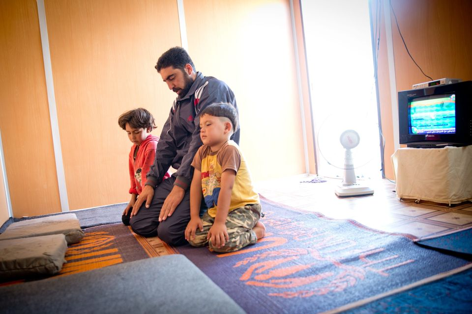 Ziad, 31, is a father of three, with another child on the way. On the first day of Ramadan, Ziad returns to his family's cara