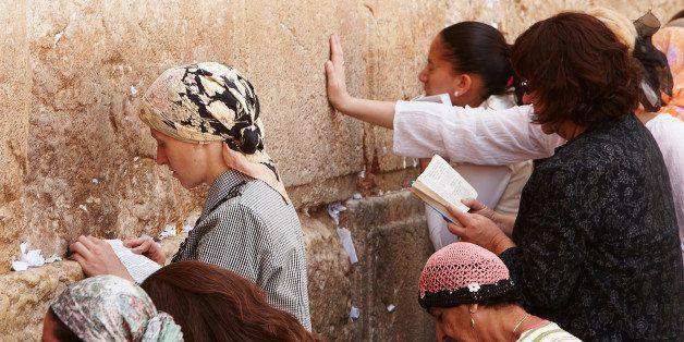 Women at Western Wall, Jerusalem, Israel