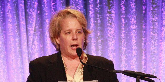NEW YORK, NY - APRIL 11:  Attorney Roberta Kaplan of Paul, Weiss, Rifkind, Wharton & Garrison LLP speaks during Center Dinner