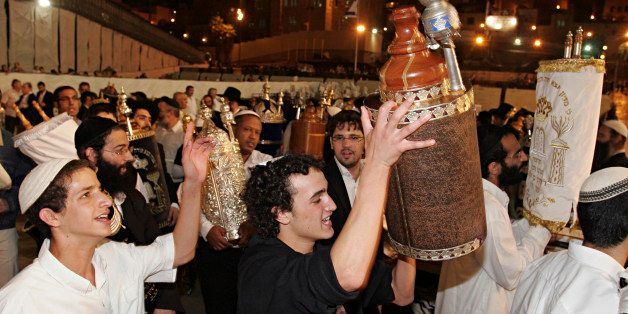 Simchat Torah (rejoicing with the Torah). This is the day when the annual cycle of reading the Torah ends and starts anew. Pe