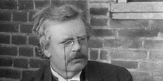 Author G. K. (Gilbert) Chesterton, in portrait by E. O. Hoppe. (Photo by E. O. Hoppe/Mansell/Time Life Pictures/Getty Images)