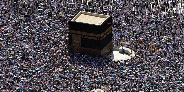 An aerial view shows the Kaaba at the Grand mosque in the holy city of Mecca, on October  27, 2012.  Muslims worldwide celebr